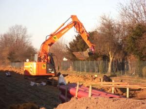 Bauarbeiten für das Güterverkerhszentrum Siekanger GVZ III 03_02_2012