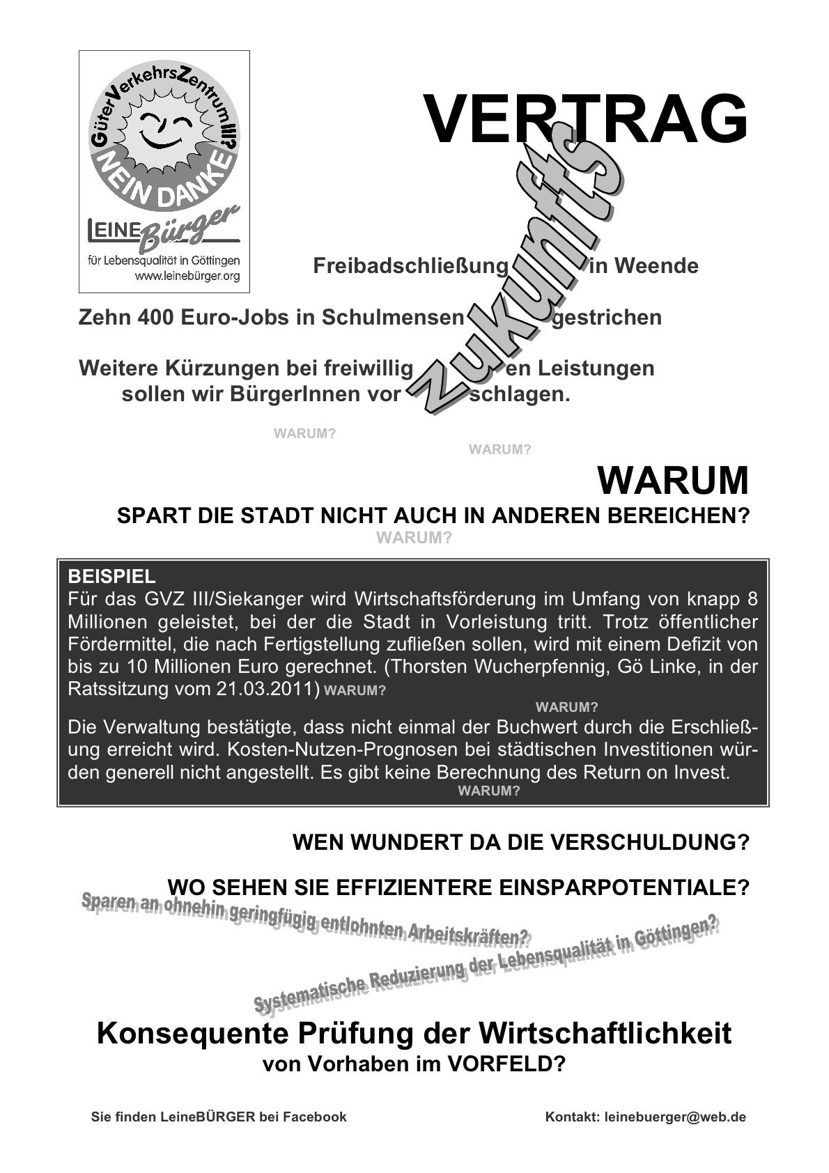 GVZ III Siekanger und Zukunftsvertrag