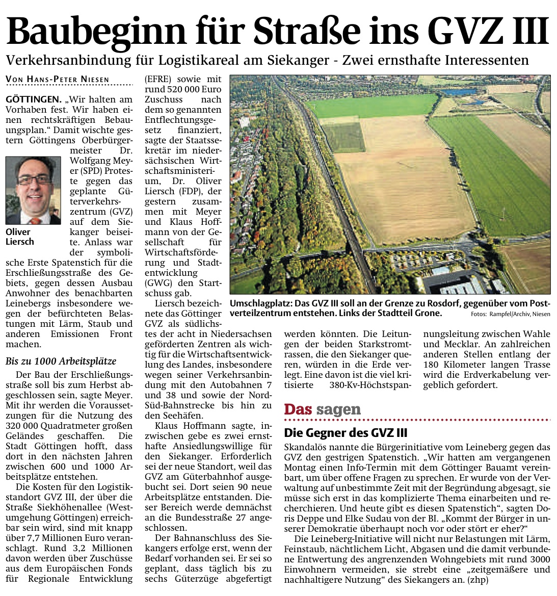 Baubeginn GVZ iii Siekanger