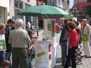 Die LeineBUERGER informieren ueber Bahnlaerm in Göttingen, auf dem Leineberg