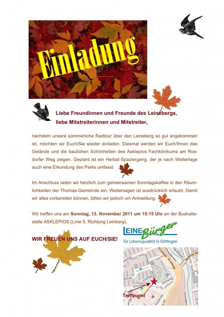Herbstspaziergang ehemaliges LKH Göttingen, heute Asklepios Fachklinikum und Maßregelvollzugszentrum Niedersachsen Moringen