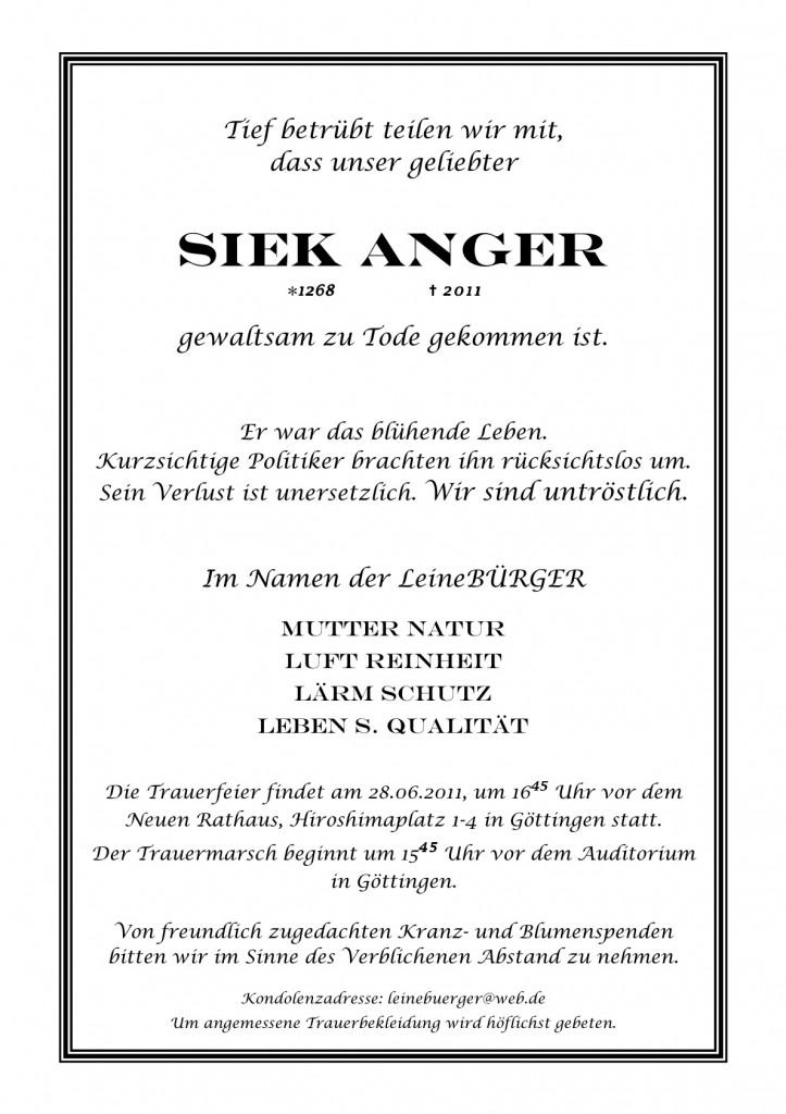 Pressemitteilung Demo Siekanger