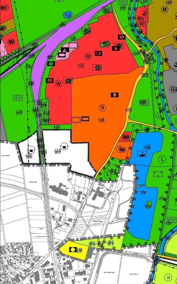 Flächennutzungsplan Göttingen, Ausschnitt Kiessee und Leineberg.