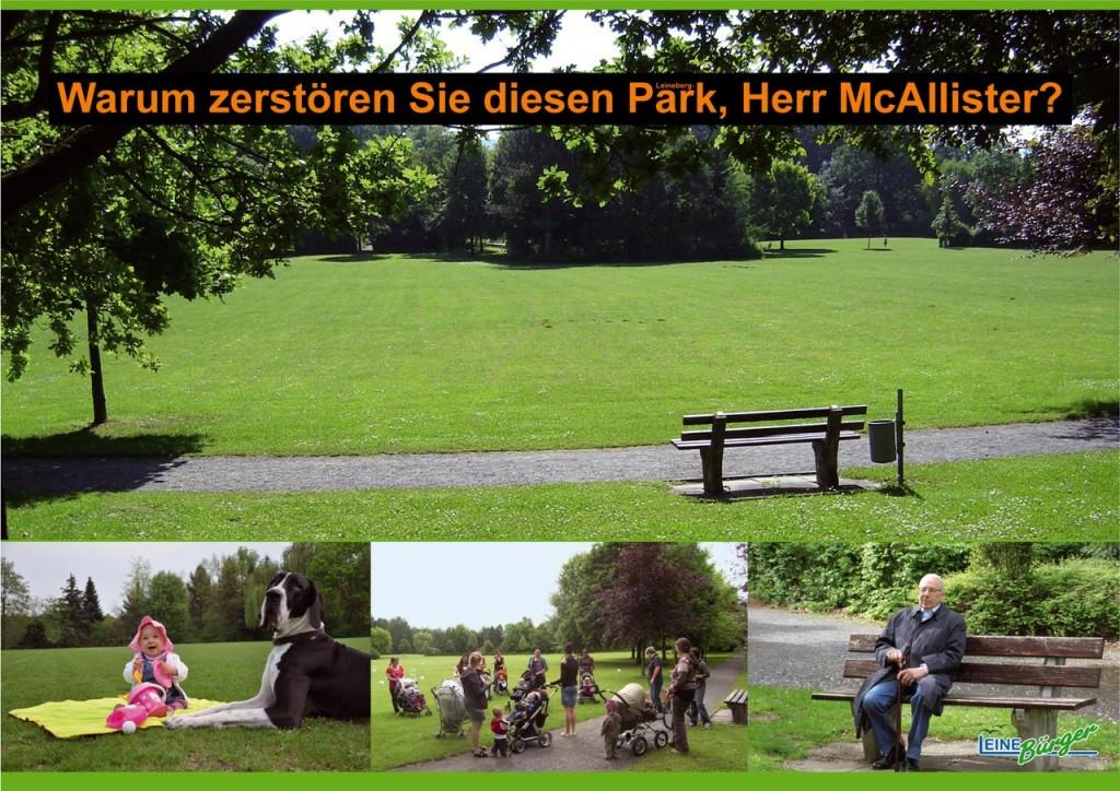 Der Leineberg-Park in voller Schönheit